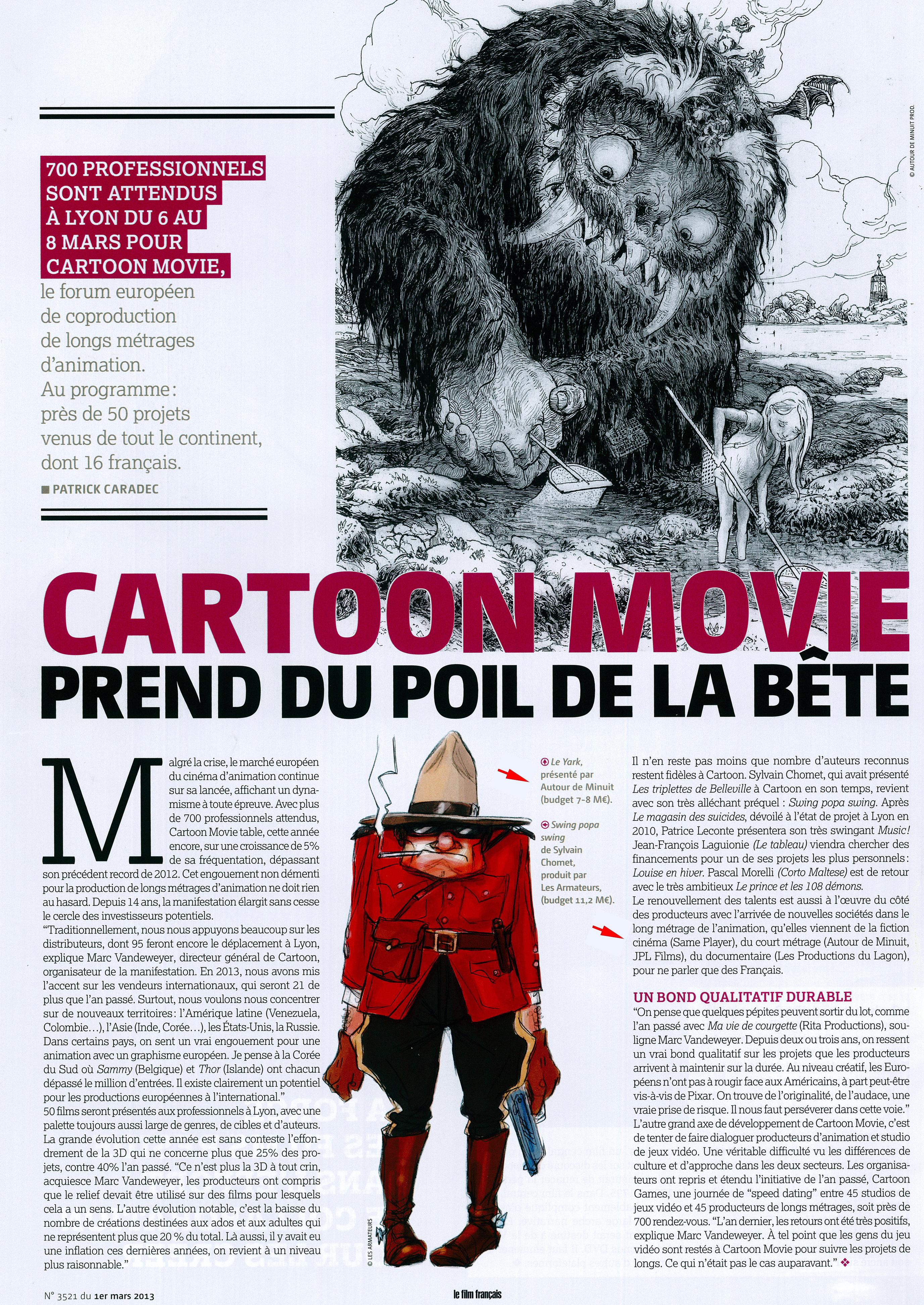 """""""Le Film Français"""" n°3521 du 1er mars 2013-1"""